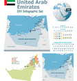 United Arab Emirates maps with markers vector image vector image