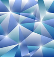 Geometric pattern with blue triangles background vector image vector image