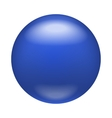 Glossy blue badge magnet icon realistic style vector image