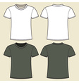 Gray and white t-shirt design template vector image