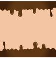 Melting chocolate vector image
