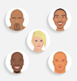 people face icon in flat style vector image