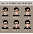 Selection of female sunglasses vector image