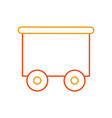 train wagon toy isolated icon vector image