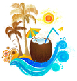 travel to paradise vector image