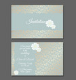 vintage wedding invitation templates cover design vector image