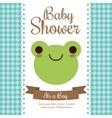 Kawaii frog Baby Shower design graphic vector image