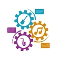 music sound infographic vector image