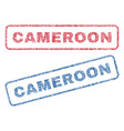 cameroon textile stamps vector image