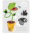 venice flytrap vector image vector image