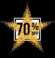 Golden star discount vector image vector image
