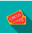 Circus show paper tickets icon flat style vector image