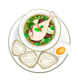 Thai Green Curry with Rice Vermicelli vector image vector image