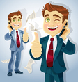 businessman charcter vector image vector image