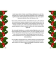 Christmas holly berries border vector image