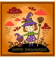 Cute Halloween background vector image