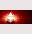 gift box open firework explosion magic light vector image