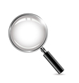 metal magnifying glass for you design vector image