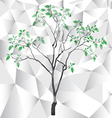 Polygon tree background vector image