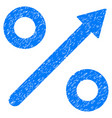 growing percent grunge icon vector image