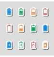 Battery Icons Set as Labes vector image vector image