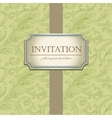 Template frame design for Invitation vector image