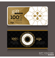 Gift certificate voucher coupon vector image