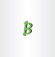 letter b green logotype logo symbol icon vector image