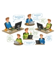 business office education icons set vector image