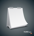 Calender template design background vector image