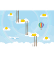cloud stairs vector image