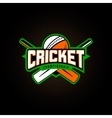 cricket sport logo with vector image
