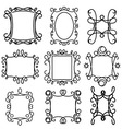 decorative frame line set 2 vector image