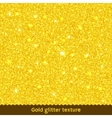 Gold glitter texture or background vector image