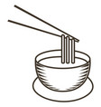 isolated instant soup sketch vector image