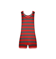 Striped retro swimsuit in red and black design vector image