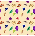 pattern hats vector image vector image