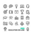 symbol of education online black thin line icon vector image