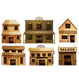Saloon bars in the West vector image vector image