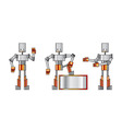 funky robots vector image vector image
