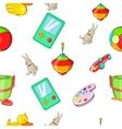 Child play pattern cartoon style vector image