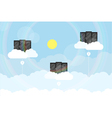 clouds server vector image