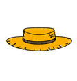 cute pesant hat to use in the farm work vector image