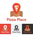 flat pizza restaurant or delivery logo set vector image
