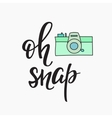 Oh snap Photo Booth Vintage old camera vector image