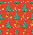 pine tree cartoon green christmas holiday vector image