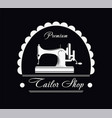 premium tailor shop black and white promotional vector image