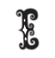 The vintage style letter E vector image