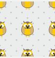 tile pattern with polka dots and owls on grey vector image