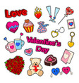love and romance valentines day doodle vector image